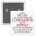Soy un botón del vegano pin