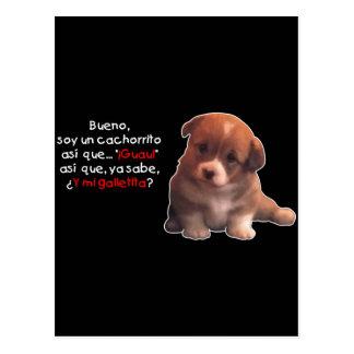 Soy un cachorrito postcard