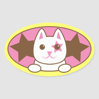 ¡Soy un CAT de la ESTRELLA tan lindo! Pegatina Ovalada