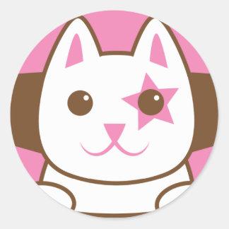 ¡Soy un CAT de la ESTRELLA tan lindo! Pegatina Redonda
