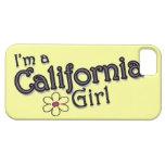 Soy un chica de California, flor, cubierta amarill iPhone 5 Case-Mate Fundas