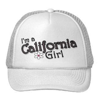 Soy un chica de California, flor, gorra de béisbol