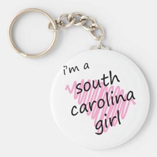 Soy un chica de Carolina del Sur Llavero Redondo Tipo Pin