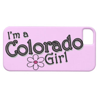 Soy un chica de Colorado, flor, cubierta rosada de iPhone 5 Cárcasa
