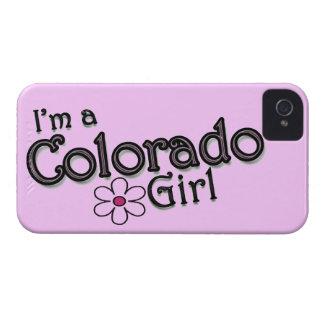 Soy un chica de Colorado, flor, cubierta rosada de iPhone 4 Cobertura
