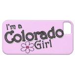 Soy un chica de Colorado, flor, cubierta rosada iPhone 5 Carcasa