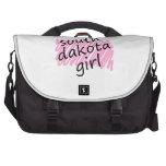 Soy un chica de Dakota del Sur Bolsa De Ordenador
