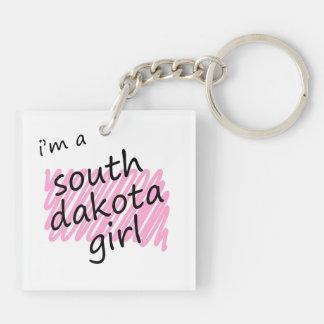 Soy un chica de Dakota del Sur Llaveros