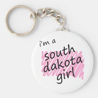 Soy un chica de Dakota del Sur Llavero Personalizado