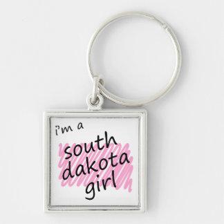 Soy un chica de Dakota del Sur Llavero