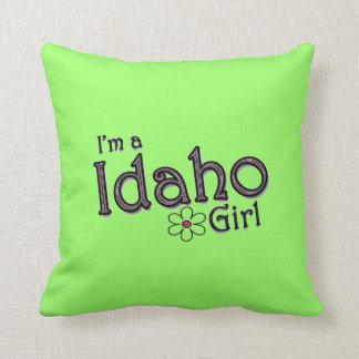 Soy un chica de Idaho, almohada decorativa verde d