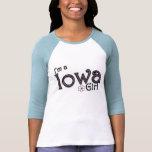 Soy un chica de Iowa, flor, camiseta azul Playera