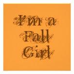 Soy un chica de la caída.  Otoño Invitación