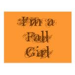 Soy un chica de la caída.  Otoño Tarjetas Postales