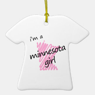 Soy un chica de Minnesota Ornamento De Navidad