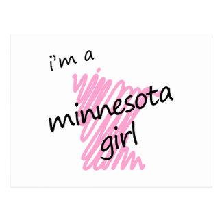 Soy un chica de Minnesota Tarjeta Postal
