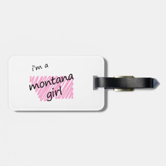 Soy un chica de Montana Etiquetas Bolsas