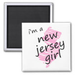 Soy un chica de New Jersey Imán De Frigorífico