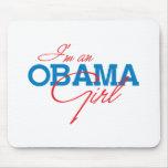 Soy un chica de Obama Alfombrilla De Ratones
