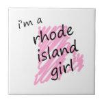 Soy un chica de Rhode Island Azulejo Cerámica
