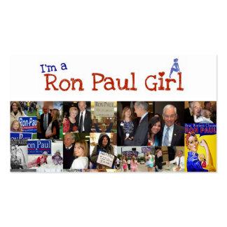Soy un chica de Ron Paul Tarjetas De Visita