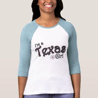 Soy un chica de Tejas, flor, camiseta azul