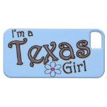 Soy un chica de Tejas, flor, cubierta azul del iPhone 5 Case-Mate Fundas
