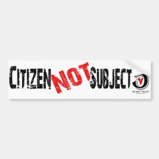 Soy un ciudadano, no tema pegatina para auto