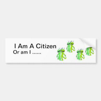 Soy un ciudadano pegatina para auto