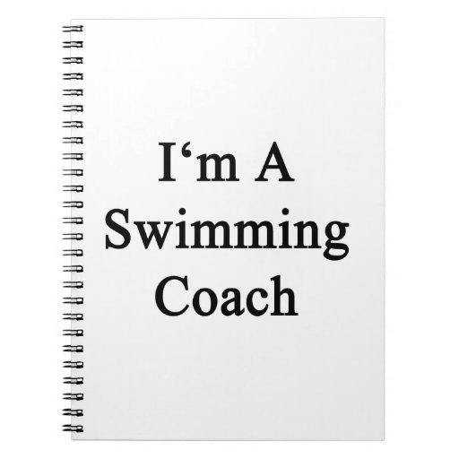 Soy un coche de la natación libreta
