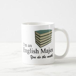 Soy un comandante inglés que usted hace la matemát taza básica blanca