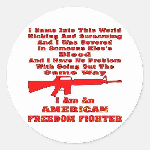 Soy un combatiente americano de la libertad etiquetas