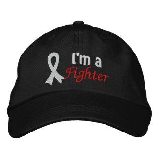 Soy un combatiente - cáncer de pulmón gorra de beisbol