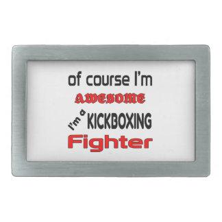 Soy un combatiente de Kickboxing Hebillas De Cinturón Rectangulares