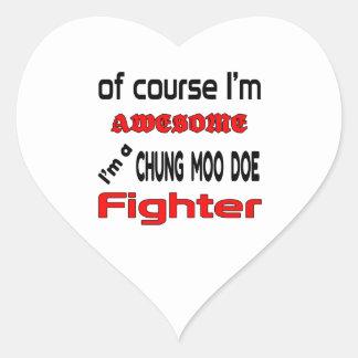 Soy un combatiente de la gama del MOO de Chungkin Pegatina En Forma De Corazón