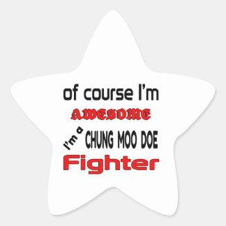 Soy un combatiente de la gama del MOO de Chungkin Pegatina En Forma De Estrella