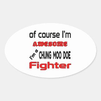 Soy un combatiente de la gama del MOO de Chungkin Pegatina Ovalada