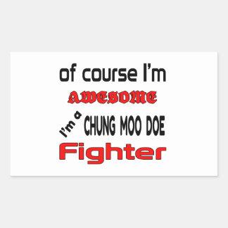 Soy un combatiente de la gama del MOO de Chungkin Pegatina Rectangular