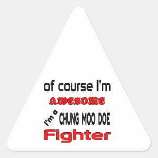Soy un combatiente de la gama del MOO de Chungkin Pegatina Triangular
