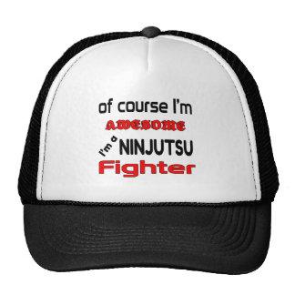 Soy un combatiente de Ninjutsu Gorros Bordados
