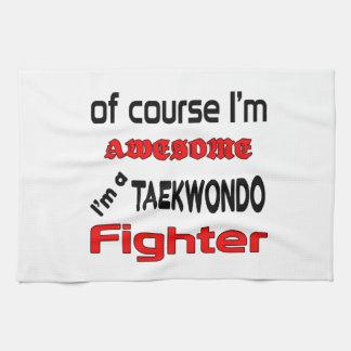 Soy un combatiente del Taekwondo Toallas De Mano