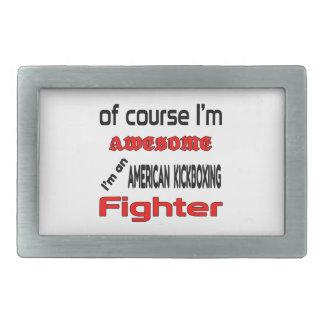 Soy un combatiente kickboxing americano hebillas de cinturon rectangulares