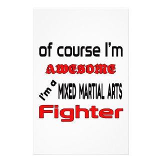 Soy un combatiente mezclado de los artes marciales papelería de diseño