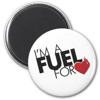 Soy un combustible para el amor iman de frigorífico