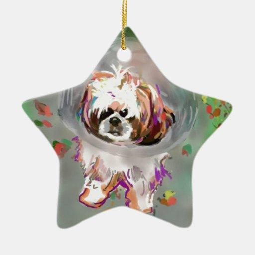 Soy un conehead adorno navideño de cerámica en forma de estrella