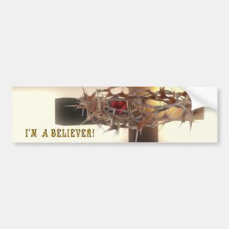¡Soy un creyente! Pegatina Para Auto