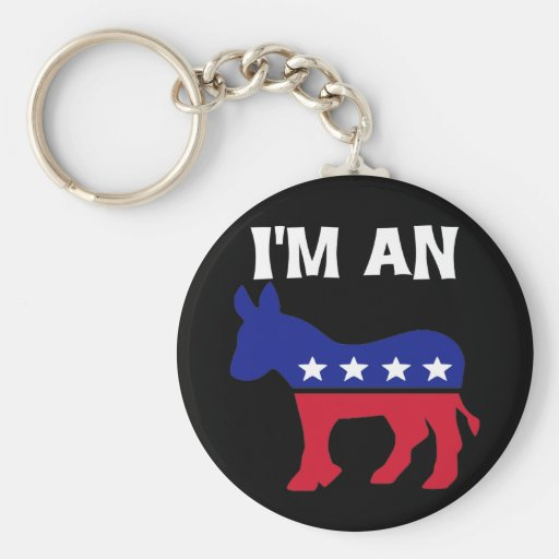 Soy un Demócrata Llaveros Personalizados
