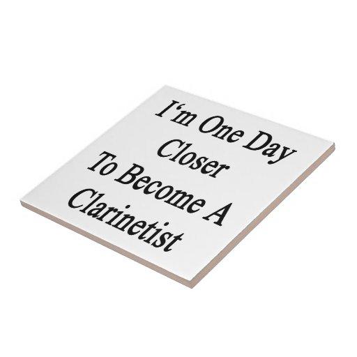 Soy un día más cercano a hago Clarinetist Azulejos