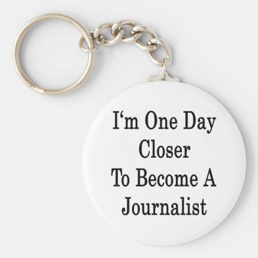 Soy un día más cercano a hago periodista llavero personalizado
