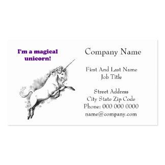 Soy un dibujo animado divertido del unicornio tarjeta personal